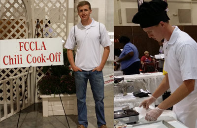 Congratulations to Holden Jackson for 1st Place Blue Ribbon at the FCCLA Chili Cook-off at the Georgia National Fair