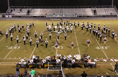 Pride of Pickens Marching Band Superior Results in Fannin County Contest