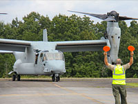 Ospreys Refueling at Airport