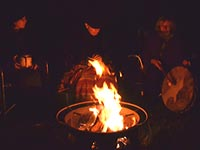 Drumming and Bon Fire at VanGoghs Hideway