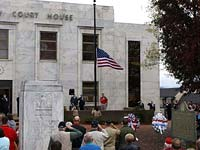 Veterans Day Parade and Ceremony in Downtown Jasper