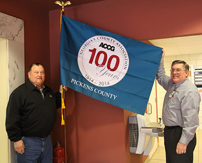 Pickens County Receives Flag from ACCG for their 100 Year Celebration