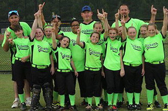 Pickens County 9-10 Girls All-Star Softball Team Headed to State Tournament
