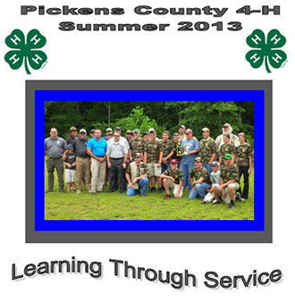 Pickens County 4-H Summer 2013 Bragging Brochure