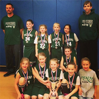 Pickens County Girls 7-8 All Star Team Placed Second in State