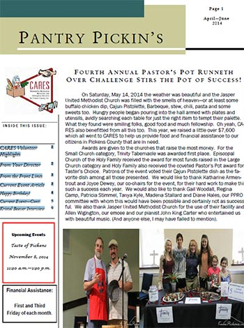 CARES April-June 2014 Newsletter