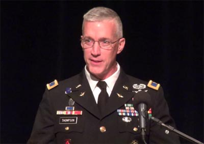 Inspiring U. S. Army Combat Officer Col. John Thompson to Speak at Rotary