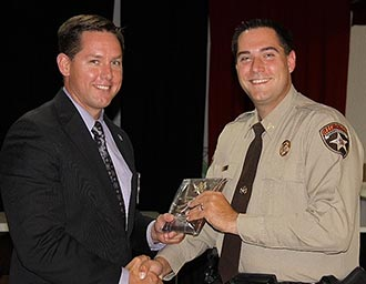 Pickens Sheriff's Office Corporal Chris Leake received Employee of the Year Award