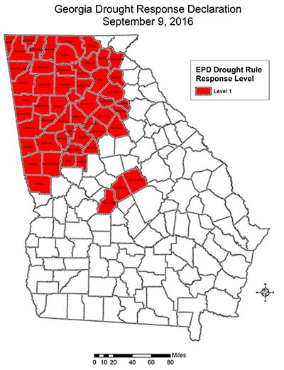 Georgia EPD Declares Level 1 Drought Response, Encourages Water Conservation