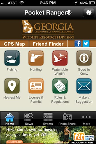 MUCH-AWAITED GEORGIA FISHING, HUNTING AND WILDLIFE APP IS HERE