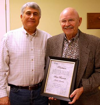 Habitat for Humanity Honors Stan Barnett as  DIRECTOR EMERITUS…..