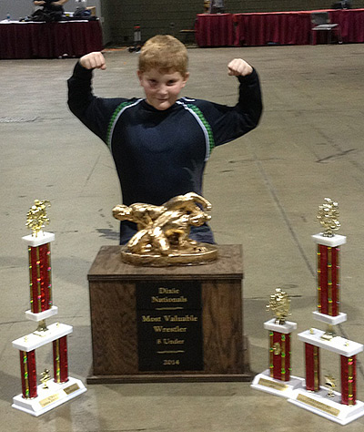 Isaiah Williams Wins Most Valuable Wrestler at Dixie Nationals