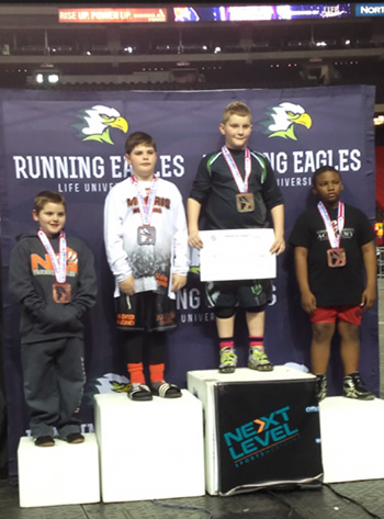 Junior Dragon Wrestler Isaiah Williams is 8-u 120 lb. State Champ