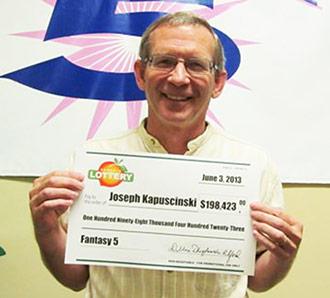 Jasper benefits consultant lands $198K Fantasy 5 prize