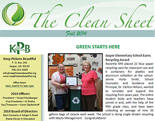 Keep Pickens Beautiful Fall Newsletter