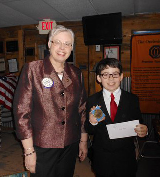 NOAH STAPP WINS STATE OPTIMIST ORATORICAL CONTEST