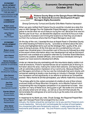 Economic Development Report October 2012
