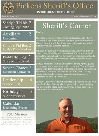 Pickens Sheriff's Office June Newsletter
