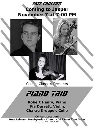 Robert Henry, pianist, and Guests to perform November 7