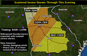 Severe Weather Potential Today