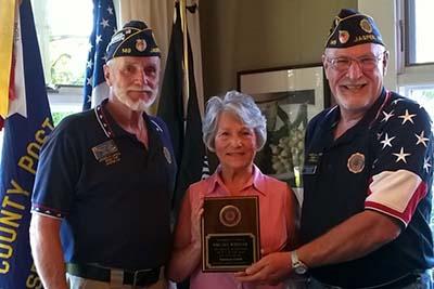 American Legion Post 149 Honors Sue Wheeler