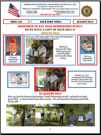 American Legion Post 149 News