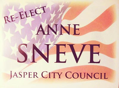 Re-elect Anne Sneve for Jasper City Council