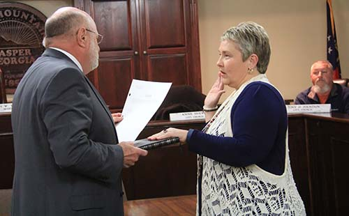 Anne Sneve Swearing-In for Jasper City Council