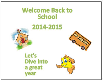 'Welcome Back to School 2014-2015' Poster Contest for Grades 1-5