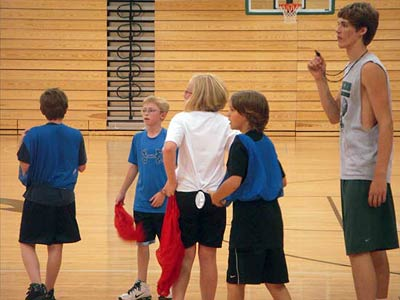 Basketball Camp let's younger players learn from varsity Dragons then show their skills in 3-on-3, free throw, other contests
