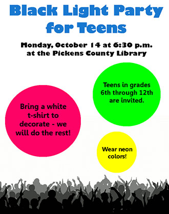 Black Light Party for Teens