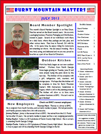 Burnt Mountain Matters July 2013
