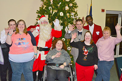 'I love you' says Santa at Burnt Mountain Center Christmas Dinner