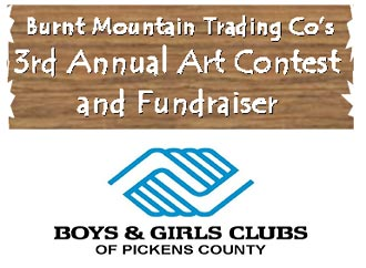 Burnt Mountain Trading Co's 3rd Annual Art Contest and Fundraiser - Application Deadline March 1st