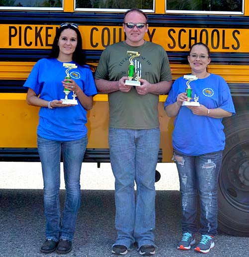 Jennifer Owens Takes First Place in the Pickens County Bus ROAD-E-O