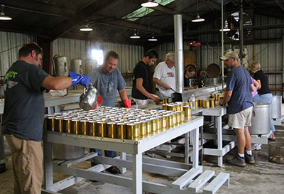 PICKENS COUNTY CANNING PLANT SCHEDULE CHANGE FOR AUGUST