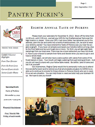 CARES July - September 2013 Newsletter