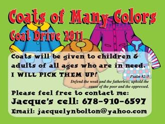Help Keep Pickens Warm! Coats of Many Colors ~ Coat Drive 2011