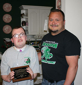 Cody Jones Receives 12th Man Award at Pickens Alumni Football Game