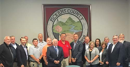 Collins Meets with Pickens Businesses and Community Leaders