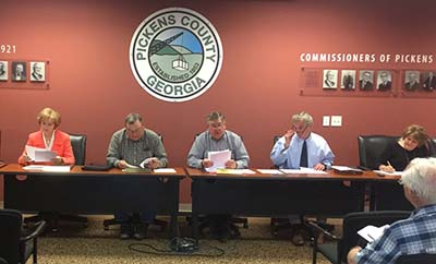 Pickens County Board of Commissioners Work Session May 2017