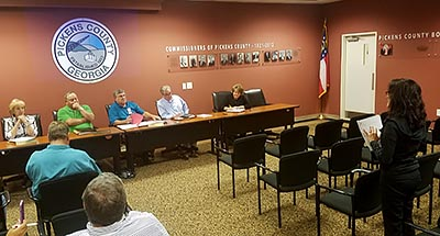 Pickens County Board of Commissioners August 2017