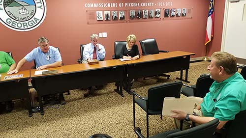 Pickens County Board of Commissioners Called Meeting
