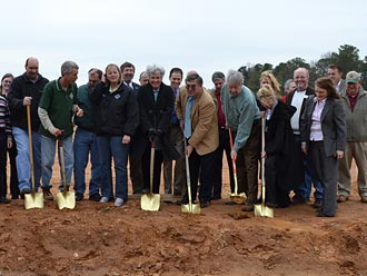 Community Center Ground Breaking Ceremony at Roper Park