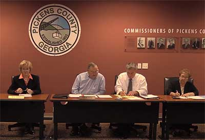 Pickens County Board of Commissioners October Work Session (Video)