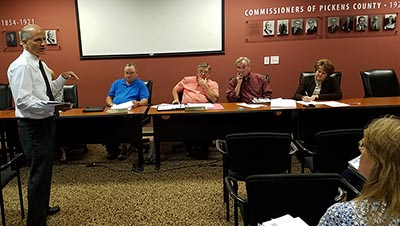 Pickens County Board of Commissioners Work Session October 2017