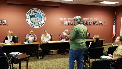 Pickens County Board of Commissioners Work Session