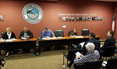 Pickens County Board of Commissioners December Work Session 2016 (Video)