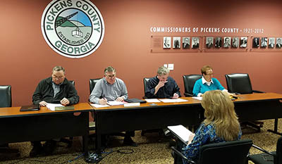 Pickens County Board of Commissioners Work Session February 2017