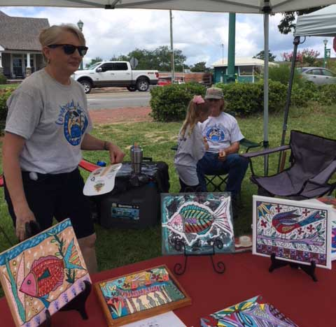 Artists JJ and Billy Roper and their budding artist grandniece made the Cornbread Reunion last year.